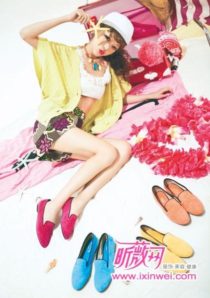 彩色平底鞋
