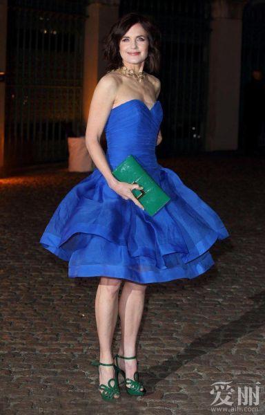 英国时尚名流齐聚Global Fund派对 小贝夫妇黑装捧场