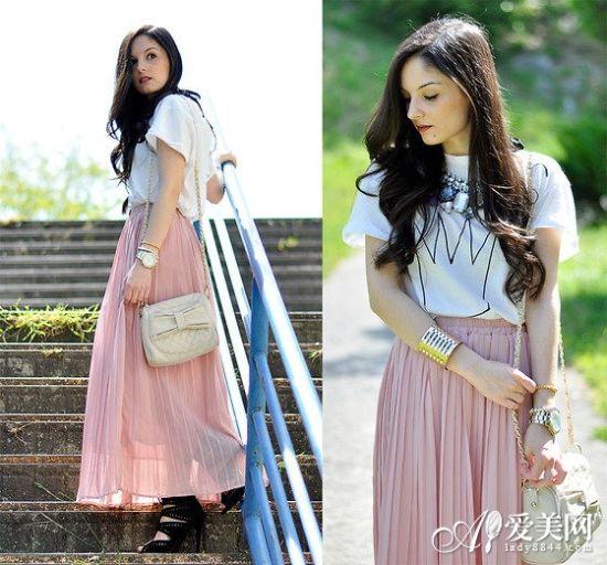 T恤+长裙LOOK5