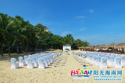 分界洲岛沙滩婚礼现场