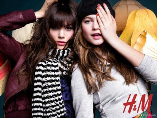 超模贝哈蒂与Sheila为H&M拍摄2014春季大片