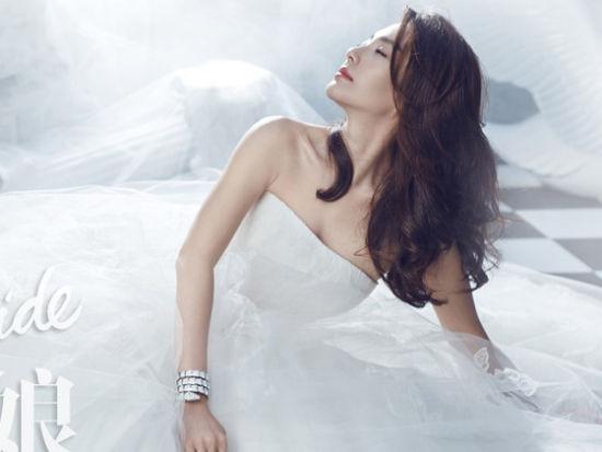 《时尚新娘》2月刊带你近距离感受张雨绮的幸福生活