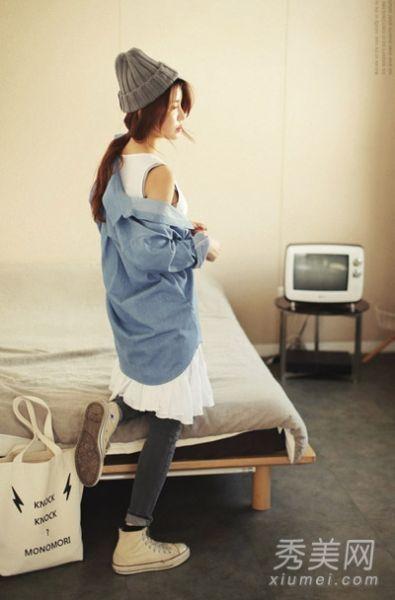 长款衬衫连衣裙搭配2
