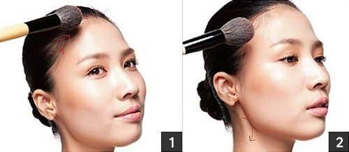 技巧3:调整额头轮廓