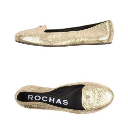 金色平底鞋