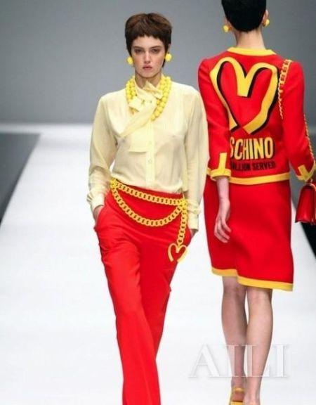 以麦当劳为灵感的服装