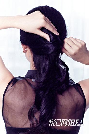 第六步:缠绕头发