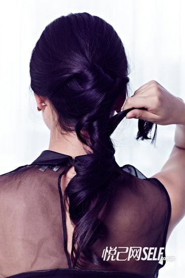 第八步:缠绕头发