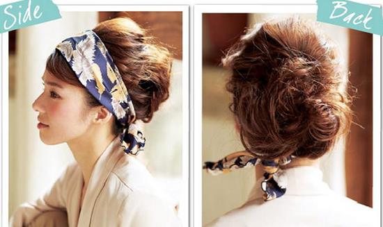 头巾发饰改变脸型