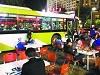 北京公交车大排档