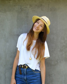 夏装短裤搭配LOOK1