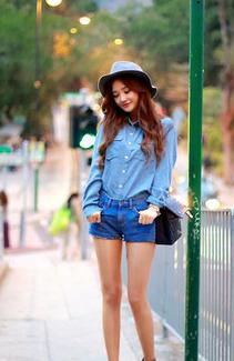 夏装短裤搭配LOOK2