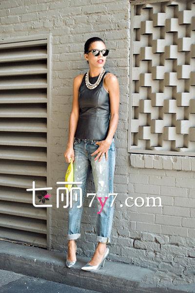 九分裤+高跟鞋搭配LOOK3