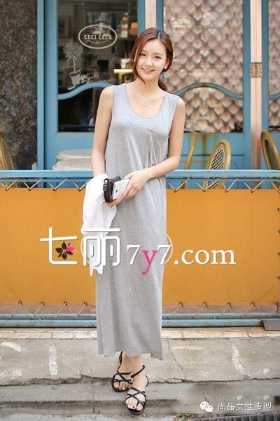 长裙+凉鞋LOOK1