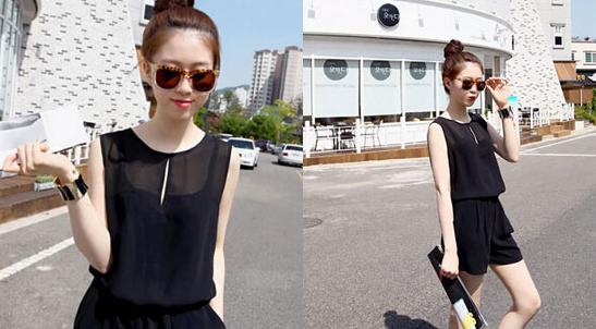 韩版时尚连体裤套装