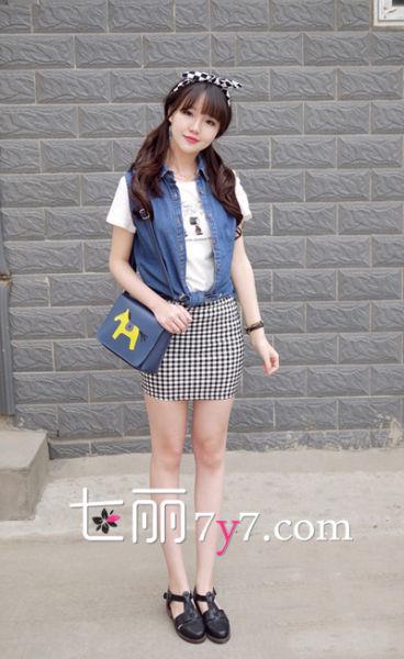 日系女生可爱搭 裙装最减龄LOOK1