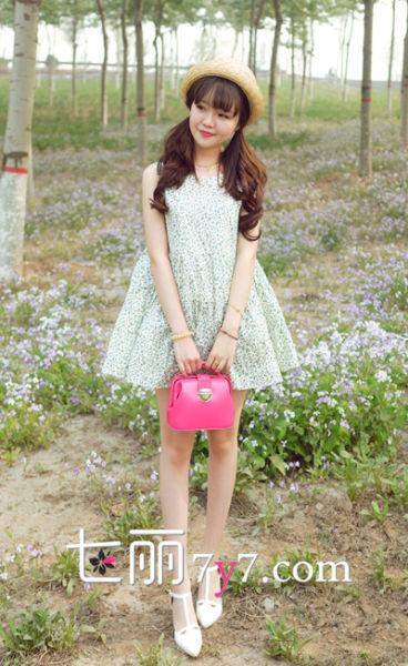 日本森林系服饰搭配 各式裙子让你减龄变小可爱(4)