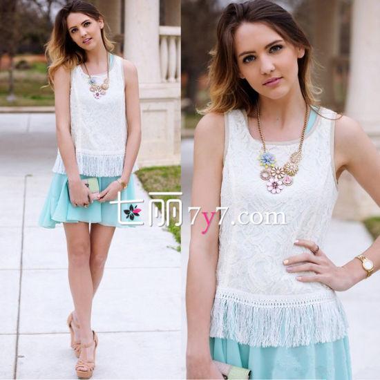 吊带背心+短裙LOOK1