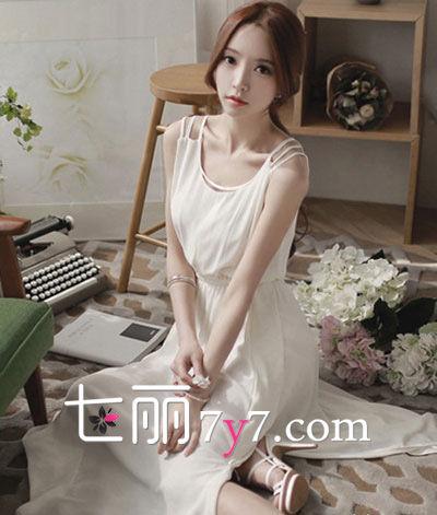 夏日仙系范儿 白裙飘飘LOOK3