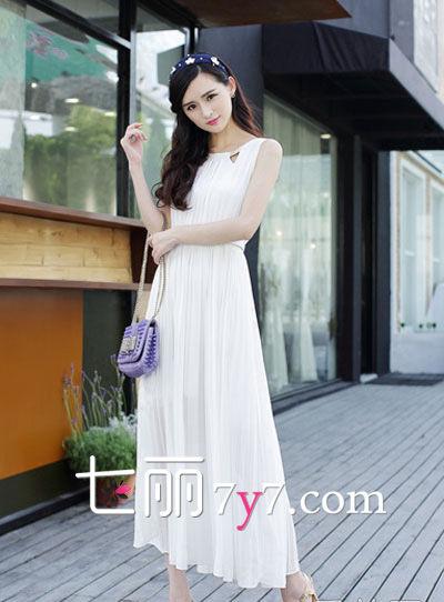夏日仙系范儿 白裙飘飘LOOK4