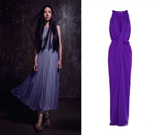 连衣裙是搭配南湘长发的最佳着装