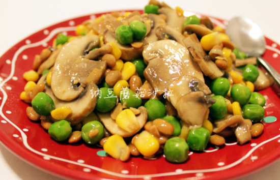 纳豆蘑菇沙拉——日本MM最爱