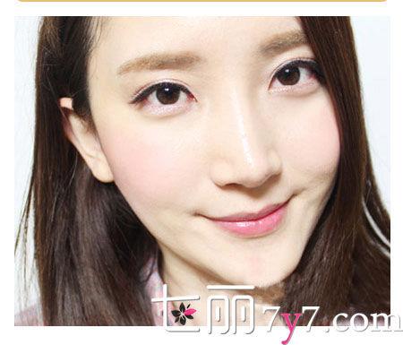 韩式甜美桃花妆容