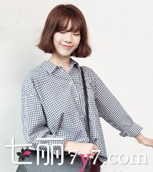 瘦脸短发发型 韩系风LOOK2