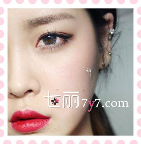 韩国大眼妆容