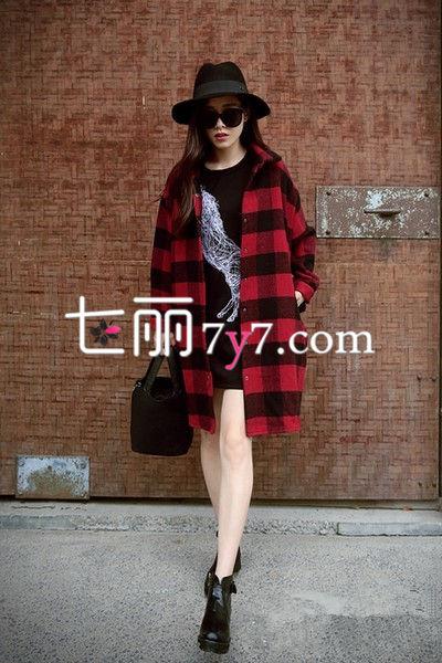 冬装外套搭配LOOK1