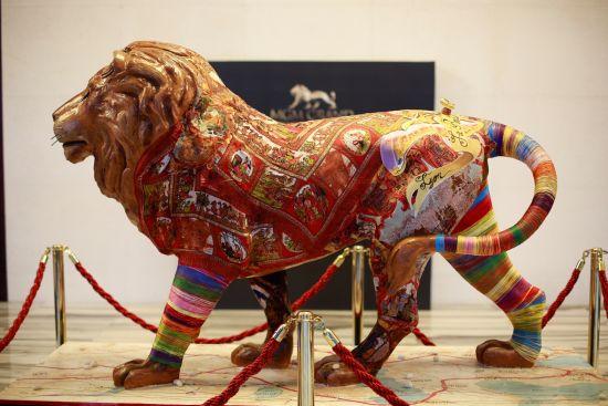 圣诞点灯及三周年庆典-丝绸之路狮子雕塑
