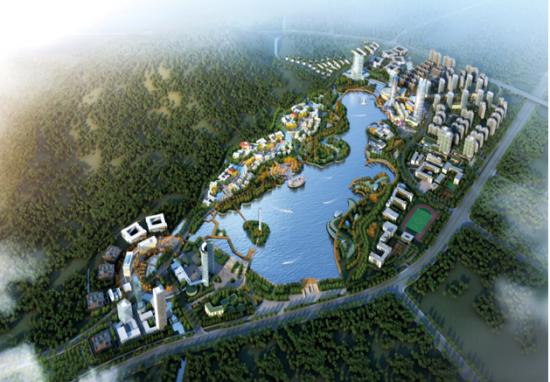 海尔国际信息谷项目鸟瞰图