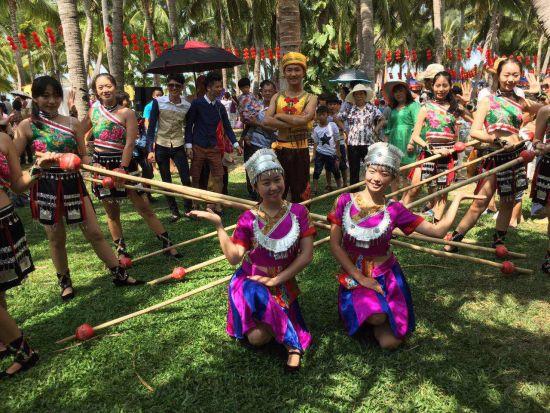 海南民族特色舞蹈--竹竿舞