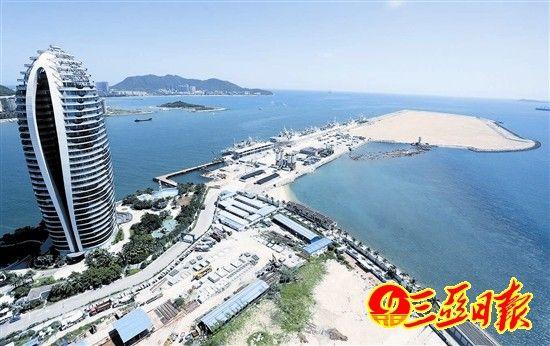 三亚凤凰岛人工岛填海工程已完成
