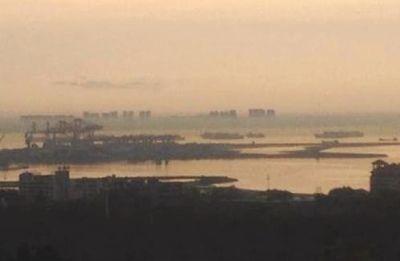 海口出现海市蜃楼