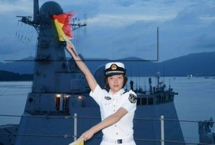 兰州号首批女舰员