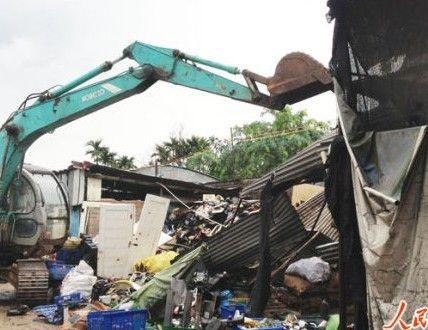 拆除废旧回收站